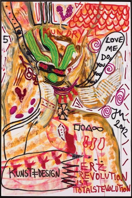 "JONATHAN MEESE, ""DR. NO BRÜLLT: KUNST UNGLEICH DEMOKRATENTOLLWUT"", 2012"
