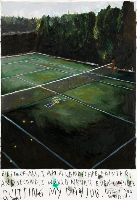 RINUS VAN DE VELDE First of all, I am a landscape painter, ..., 2020 oil pastel on paper 105,9 x 72,5 cm