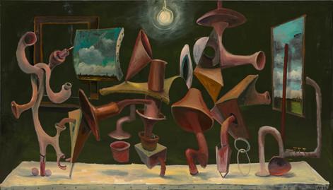 ANTON HENNING Grosses Stilleben No. 6, 2014 oil on canvas 160 x 280 cm
