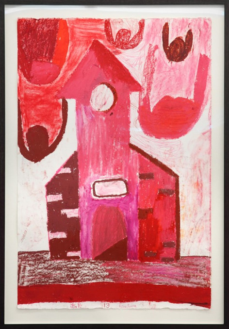 TAL R Rosa Tower, 2013 oil crayon on paper  155 x 80 cm
