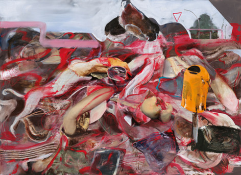 ADRIAN GHENIE Park Scene, 2020 oil on canvas 210 x 290 cm