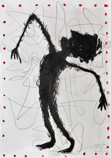 HENK VISCH Dance for a young friend, 2021 watercolor, ink and pencil on paper 42 x 29,7 cm