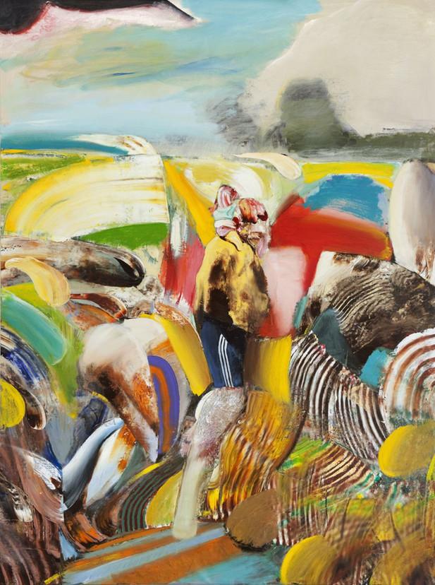 ADRIAN GHENIE St. Christopher, 2018 oil on canvas 240 x 180 cm