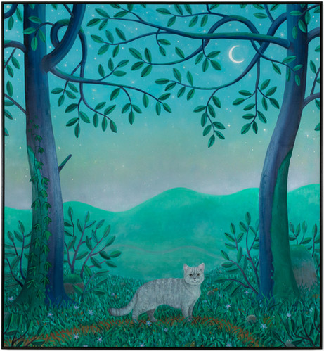 BEN SLEDSENS Young Cat, 2019 - 2020 oil and acrylic on canvas 200 x 185 cm