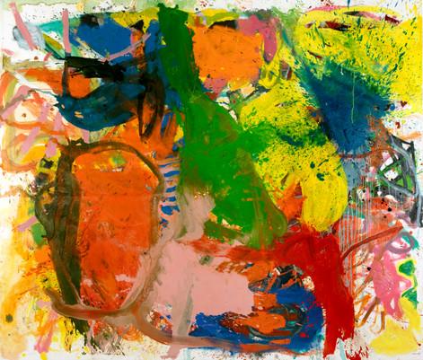 ANKE WEYER Reasoning, 2019 oil on canvas 195 x 228 cm