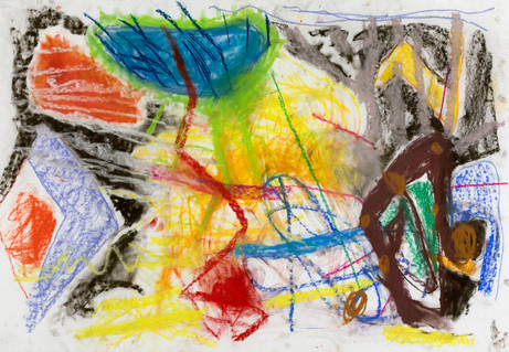 ANKE WEYER Untitled, 2019 pastel on paper 76.2 x 111.76  cm