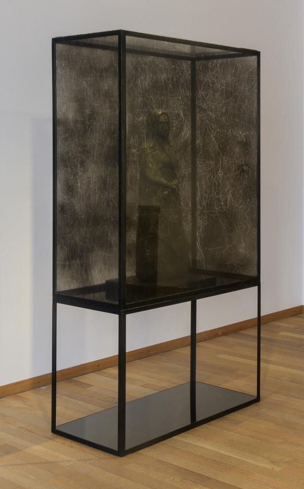EDWARD LIPSKI Black Madonna, 2017 concrete, perspex, steel 207 x 93 x 58 cm