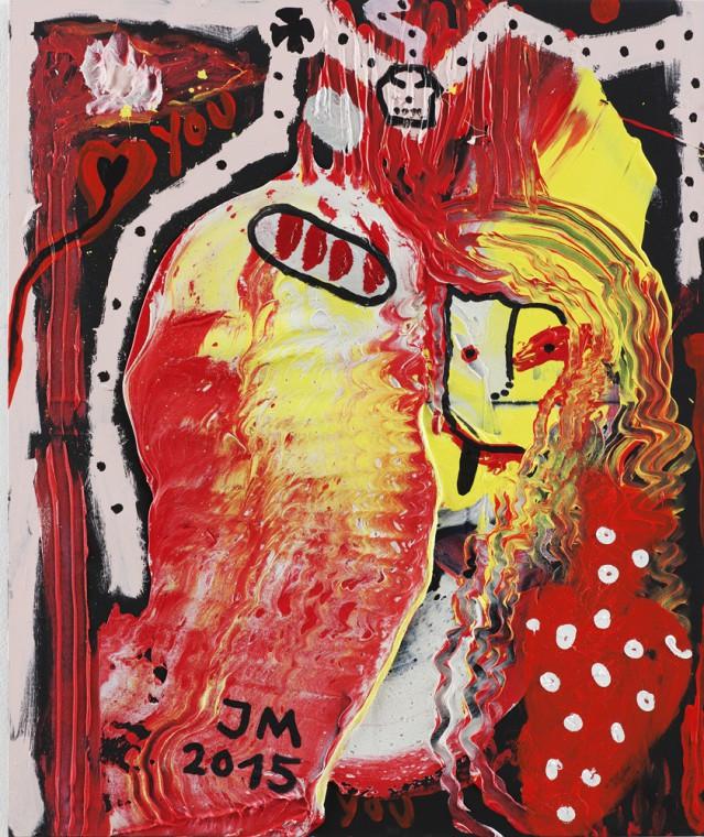 "JONATHAN MEESE, FRÄULEIN ""BRÜLLFLEISCHI"" IST SEHNSUCHT (""GAMEESEL DE LARGE GEBRÜLL""), 2015"