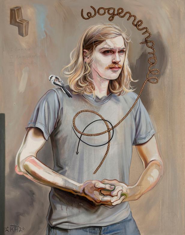 KATI HECK Eins zwei drei, 2020 oil and pencil on canvas 140 x 110 cm