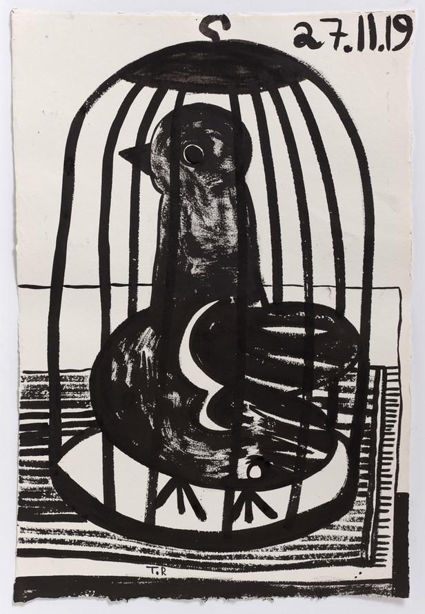 TAL R Adela, 2020 ink on paper 128 x 86 cm