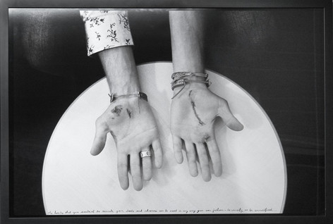 ED TEMPLETON Untitled (Crucify of Be Crucified), 2004 81,3 x 119,4 cm black and white photograph collage with text, framed