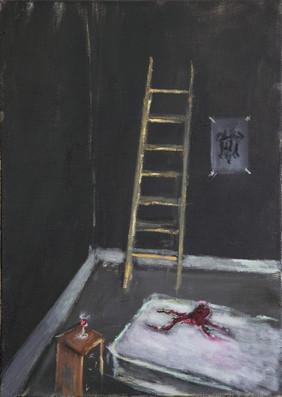 AARON VAN ERP, Inktvis met matras en ladder, 2011-2012
