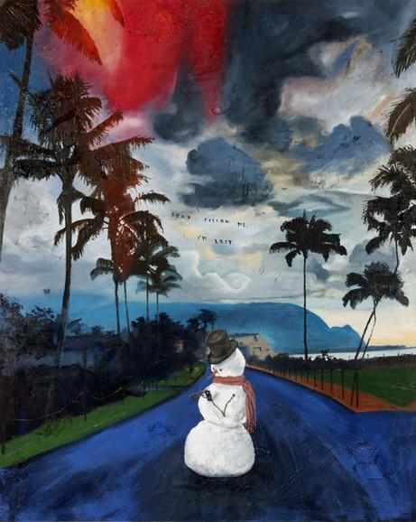FRIEDRICH KUNATH Don't Follow Me, I'm Lost, 2020 oil on canvas, 152,44 x 121,8 cm