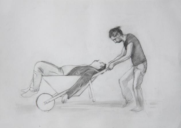 """CIPRIAN MURESAN, Detail: 5 drawings after Raul Verdini's illustration for """"Cipollino"""" by Gianni Rodari, 2008"""