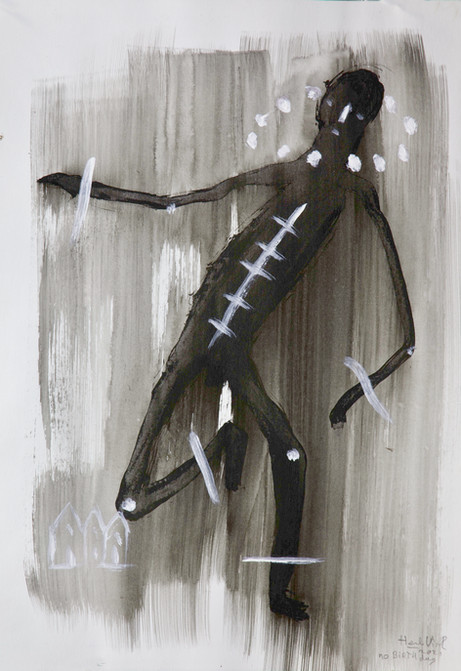HENK VISCH No birthday, 2021 ink, acrylic, and pencil on paper 42 x 29,7 cm