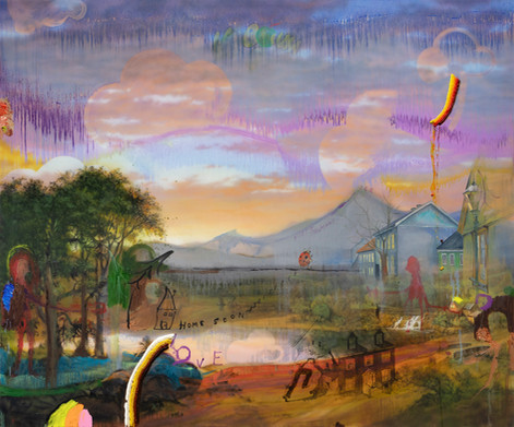 FRIEDRICH KUNATH Home Soon, 2019 acrylic and oil on canvas, 152,4 x 182,8 cm