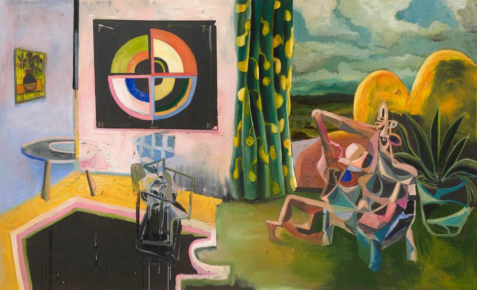 ANTON HENNING Interieur No. 561, 2019 oil on canvas 280 x 460 cm