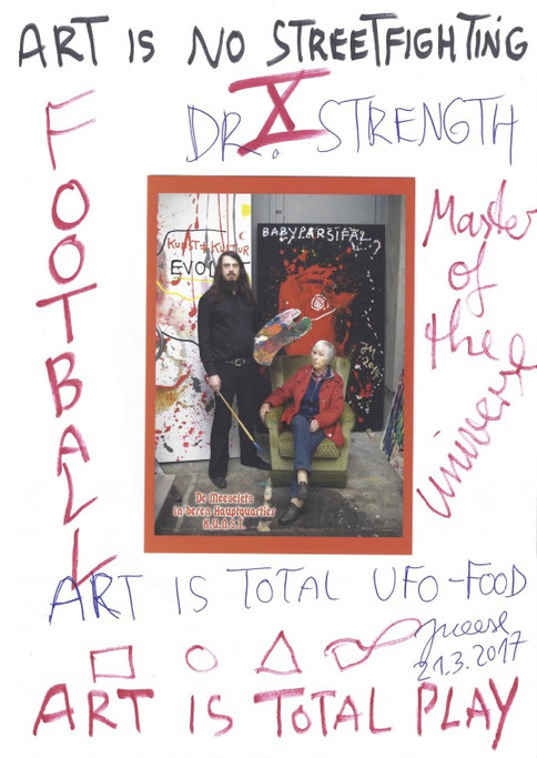 JONATHAN MEESE, THE 13 PAGES: THE MERLIN DE LARGE KING ARTHYRN TABLE DE LARGE DE MANIFESTUS ..., 2017