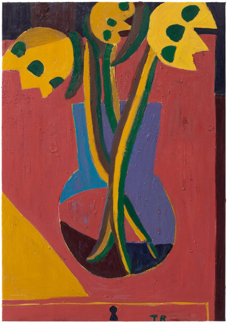 TAL R Untitled Flowers, 2021 oil on canvas 132 x 92 cm