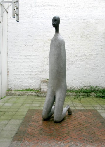 HENK VISCH I was a man with a beard, 2008 aluminum, paint 255 x 50 x 80 cm edition of 2 and 1 A.P.