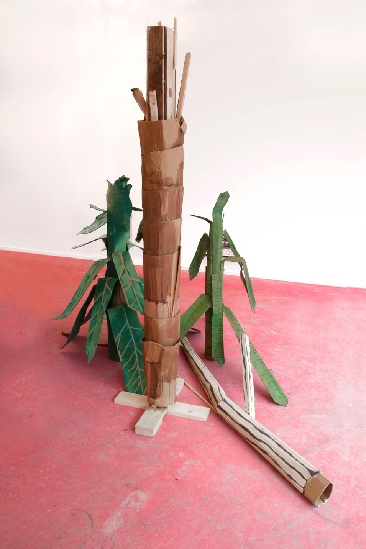 RINUS VAN DE VELDE,  Prop, Planecrash, Broken Palmtree & Plants, 2017