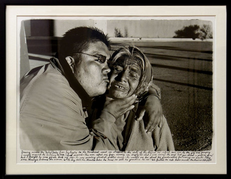 ED TEMPLETON Sell His Own Grandmother, 2004 46 x 58,5 cm black and white photograph collage with text, framed