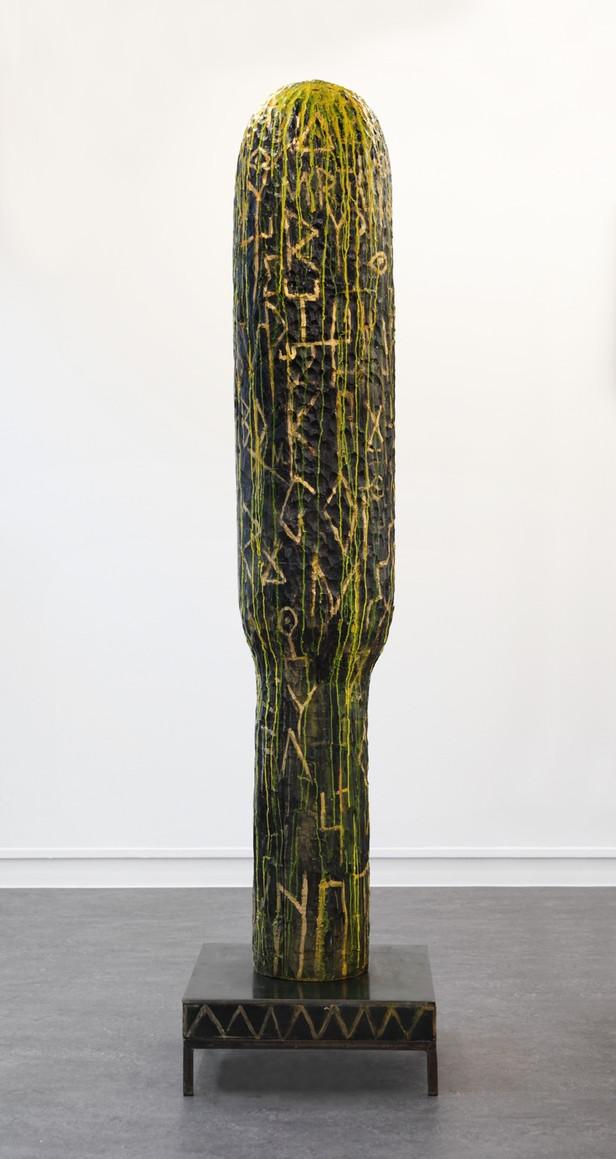 EDWARD LIPSKI Magic Tool III, 2015 limewood, paint, steel 212 x 51,5 x 51,5 cm