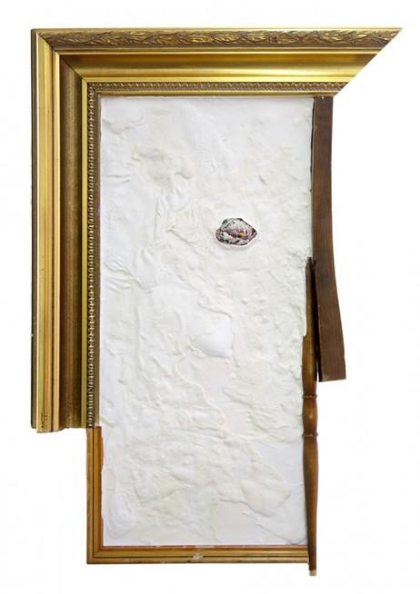 GELITIN Lady Dada, 2013 wood, plasticine 61 x 55 x 7 cm