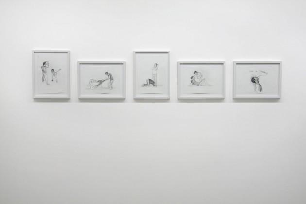"""CIPRIAN MURESAN, 5 drawings after Raul Verdini's illustration for """"Cipollino"""" by Gianni Rodari, 2008"""