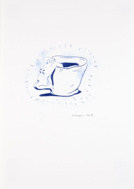 ARMEN ELOYAN Cup Drawing 10, 2019 pencil on paper, framed 42 x 29,7 cm