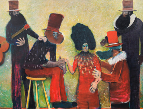 RYAN MOSLEY Fainting Society, 2014 oil on canvas 205 x 275 cm