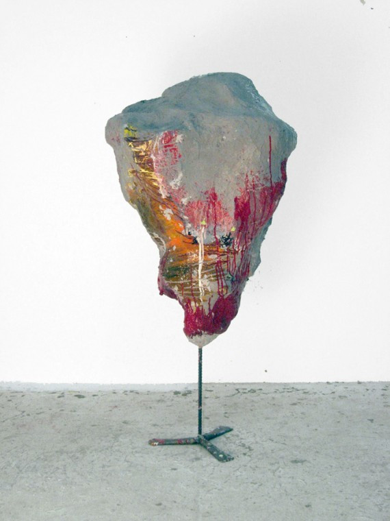 FRANZ WEST Rot, 2008 papermaché, styrofoam, acrylic paint, lacquer, metal  154 x 74 x 71 cm