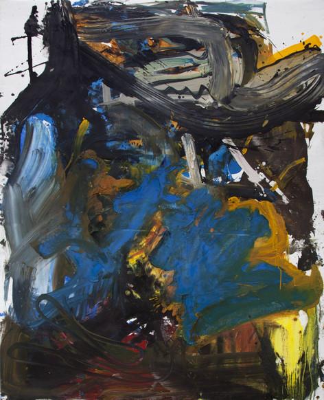 ANKE WEYER Hornet, 2017 oil and acrylic on canvas 165 x 132,2 cm