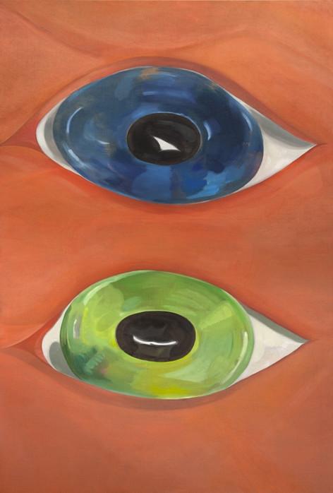 TOMASZ KOWALSKI Untitled (Two Eyes), 2018 oil on canvas 190 x 129,5 cm