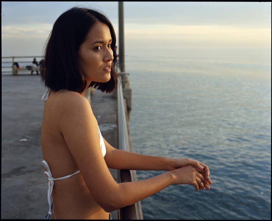 ED TEMPLETON, Ashley looks off Pier, Huntington Beach, 2012