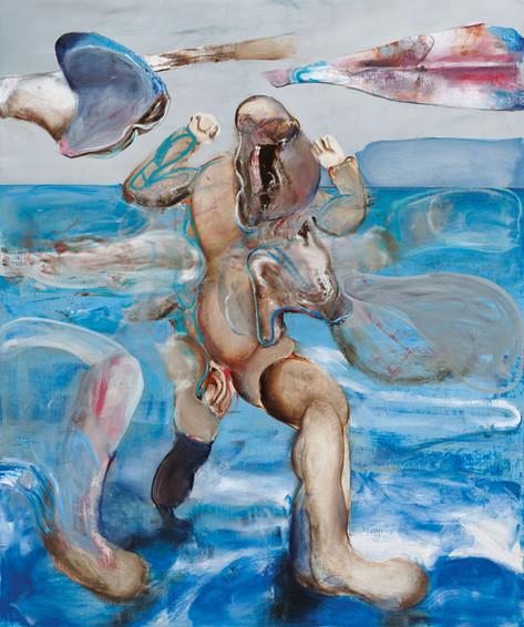 ADRIAN GHENIE The Exodus, 2020 oil on canvas 240 x 200 cm