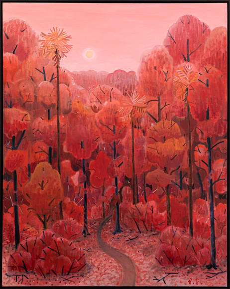 BEN SLEDSENS Red Road, 2020 - 2021 oil on canvas 125 x 100 cm