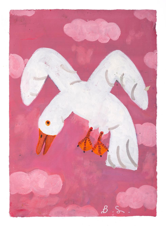 BEN SLEDSENS, White Bird in a Pink Sky, 2018