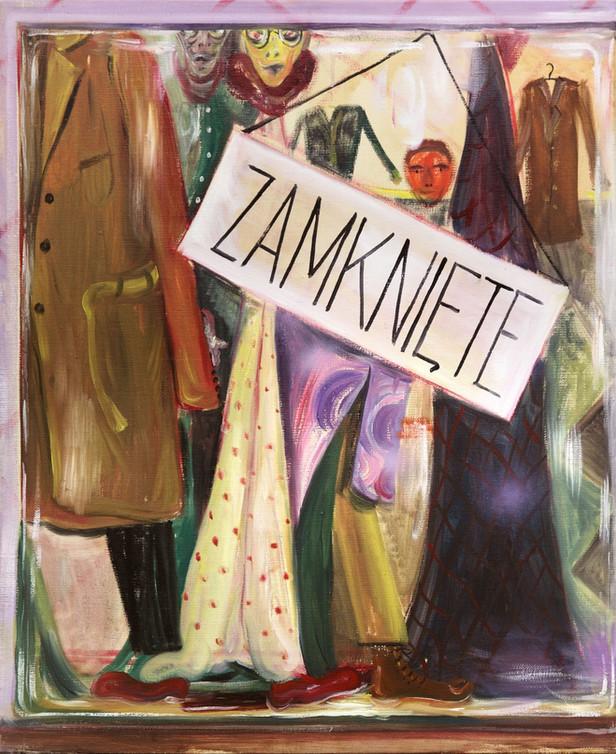 TOMASZ KOWALSKI Zamknite, 2012 oil, acrylic, spray on canvas 61 x 50 cm
