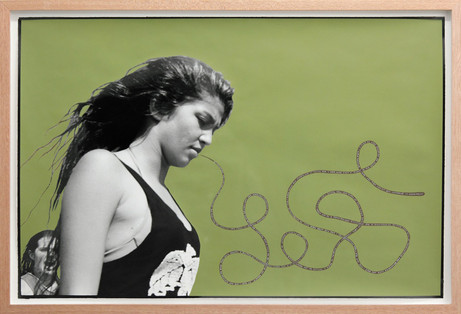 ED TEMPLETON Walking Girl, Huntington Beach, 2013 89 x 60.5 photograph with paint