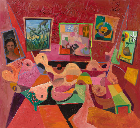 ANTON HENNING Interieur No. 560, 2018 oil on canvas 220 x 240 cm