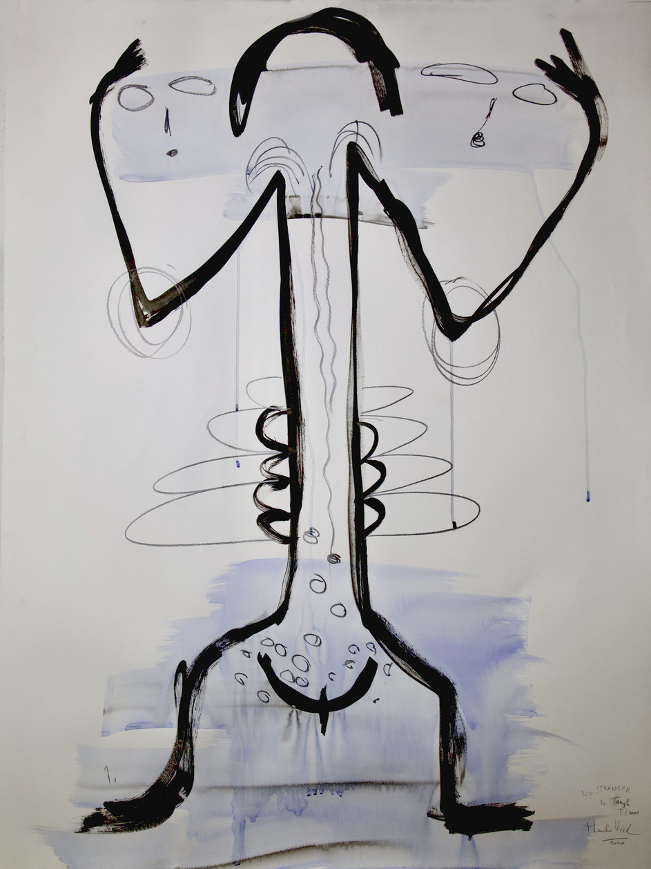 HENK VISCH No stranger to though times, 2020 watercolor and pencil on paper 100 x 75 cm