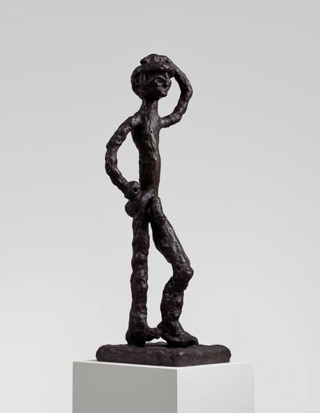 Tal R Dimi, 2020 patinated bronze 125 x 35 x 43 cm