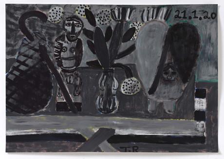 TAL R Tooth, kanel, storm, Sinai & Paradis, 2020 gouache on paper 72 x 102 cm