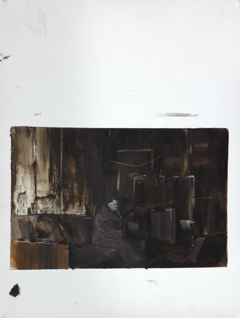 ADRIAN GHENIE, Study for The Collector 1, 2007