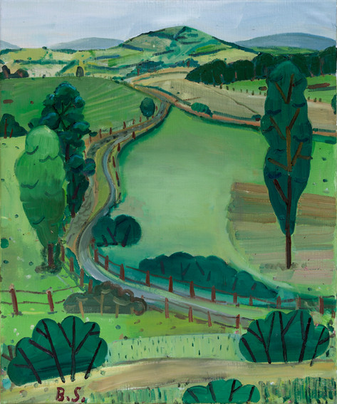 BEN SLEDSENS Landscape in Auvergne, 2018 oil on canvas 60 x 50 cm