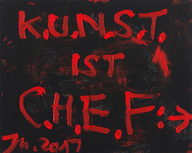 JONATHAN MEESE, DOPPELT GECHEFT: KUNST IST CHEF, DIKTATUR DER KUNST... (WENN DAS MAL KEIN DOKTOR IST!), 2017