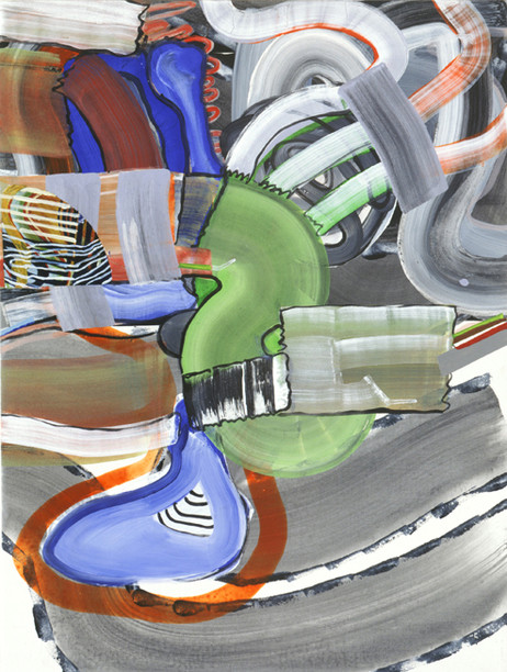 JUAN USLÉ Alegre con fragmento, 2005 61 x 46 cm Vinyl, dispersion and pigments on canvas