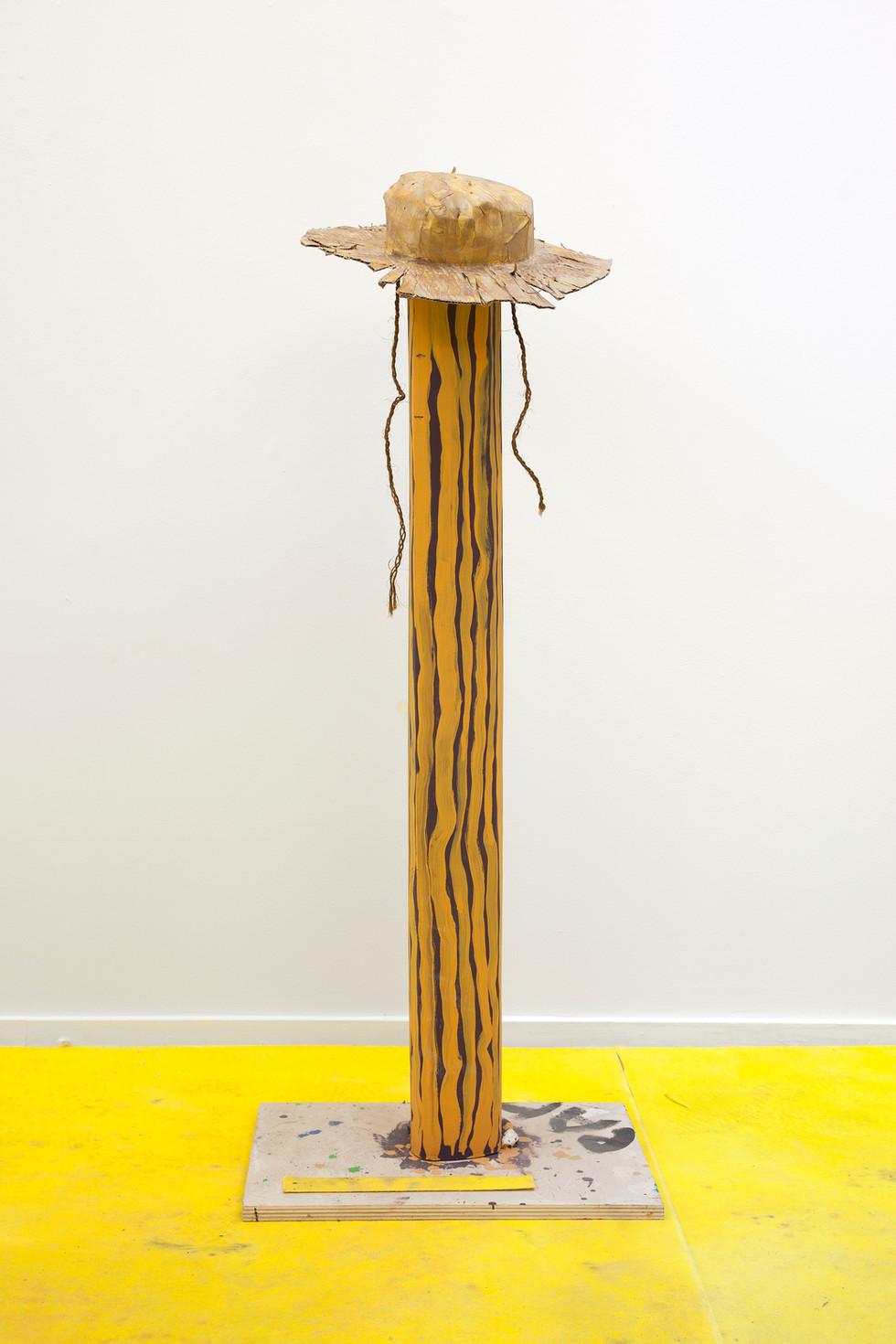 RINUS VAN DE VELDE,  Prop, Planecrash, Hat on Abstract Tree (for Paul Thek), 2017