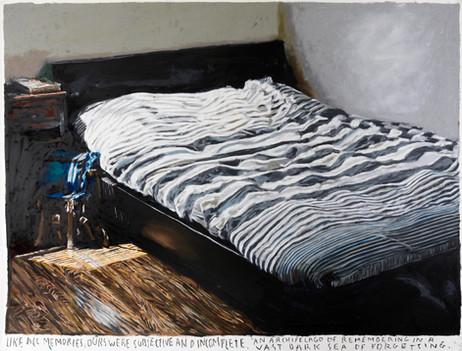 RINUS VAN DE VELDE Like all memories..., 2021 oil pastel on paper 111,8 x 149,2 cm